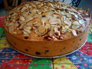 Almond Torte With Chocolate Chips Torta Di Mandorle From